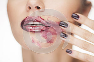 Glamour Red Gloss Lips Royalty Free Stock Image - Image: 27791526