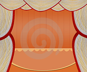 Red Stage Royalty Free Stock Image - Image: 2780396