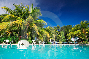 Private resort pool Stock Images