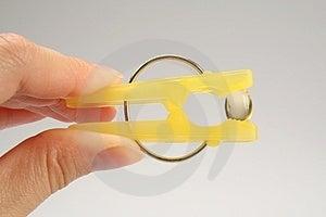 Зажим прачечного с витамином E Стоковое Фото - изображение: 2786800
