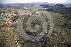 Desert Green With Golf Royalty Free Stock Image - Image: 27810826