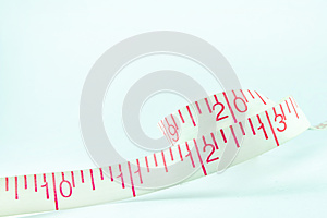 Line Tape Measure White New Year 2013 Royalty Free Stock Photography - Image: 27834227