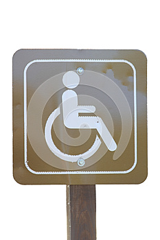 Handicap Sign Isolated On White Royalty Free Stock Images - Image: 27957199