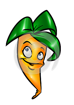 Funny Cartoon Carrot Stock Photography - Image: 27969392
