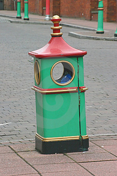 Chinese Style Rubbish Bin Royalty Free Stock Image - Image: 280666