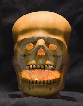 Spooky Halloween Skull Royalty Free Stock Images - Image: 284439