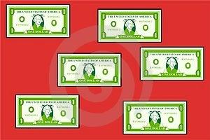 Dollar Wallpaper Free Stock Image