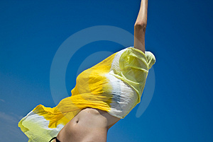 Vaporously Wrapped Girl Stock Photo - Image: 2803420