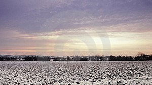 Field In Winter Royalty Free Stock Image - Image: 2805306