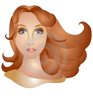 Woman With Long Brown Hair Stock Images