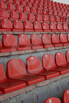 Stadium Seats Royalty Free Stock Photo - Image: 2808275