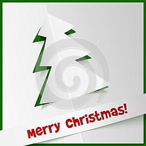 Kreativer Weihnachtsbaum Von Cuted Heraus Papier Stockbild - Bild: 28036151
