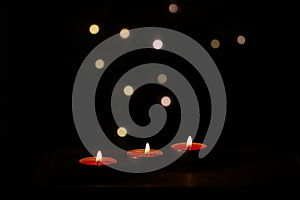 Red Candles On Dark Background Royalty Free Stock Photo - Image: 28098335