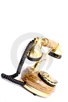 Old Gold Telephone Stock Image - Image: 2815191