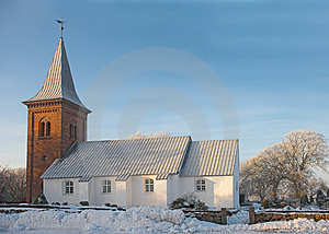 Old Danish Church Stock Images - Image: 2816974