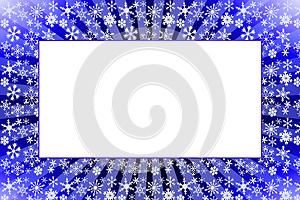 Snowflake frame in blue Stock Images