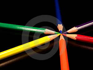Colored pencils Free Stock Photos