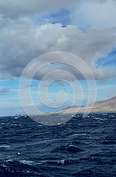Stormy Clouds Over The Ocean Royalty Free Stock Images - Image: 28209899