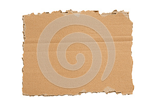 A Ripped Blank Piece Of Cardboard XXXL Isolated Stock Image - Image: 28289331