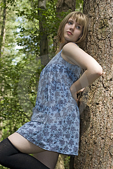 Pretty Girl In The Woods Royalty Free Stock Photography - Image: 2830667