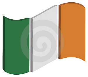 Abstract Ireland Flag Stock Image