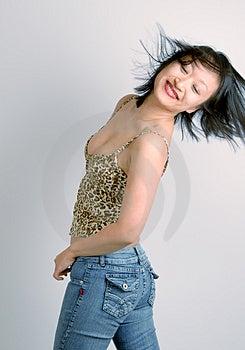 Femme Insouciante Image stock - Image: 2835471