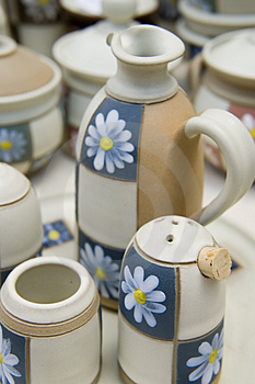 Ceramic Handmade Cups Royalty Free Stock Photo - Image: 2838015