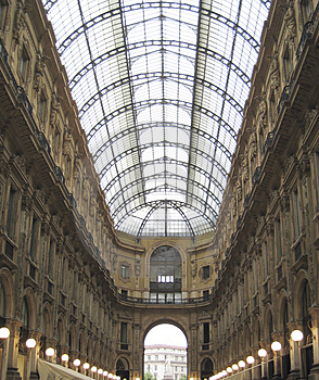 Covered Building In Milan Italy Stock Photos - Image: 2839553