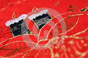 Christmas Table Cloth Closeup Royalty Free Stock Photo - Image: 28360915