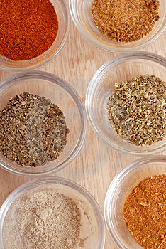 Spices for prepare tasty food Stock Images