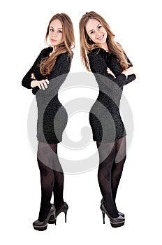 喜悦和悲伤女孩 免版税库存图片 - 图片: 28453686