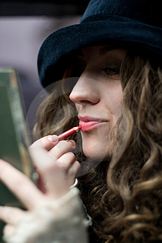 Retouching The Lips Stock Photos - Image: 2855863