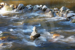 Waterbodies With Rocks Stock Image - Image: 2863601