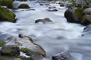 Small Creek With Rocks Royalty Free Stock Images - Image: 2863899