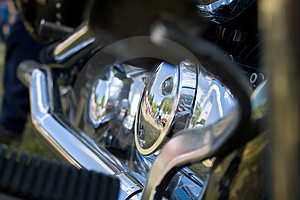 Chrome Exhaust And Engine Stock Photography - Image: 2864392