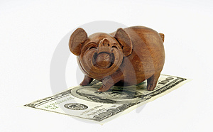 Pigs And Money Royalty Free Stock Photos - Image: 2865228