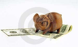 Pigs And Money Stock Image - Image: 2865261