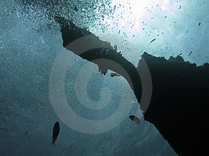 Sunken Wreck 2 Royalty Free Stock Images - Image: 2865489