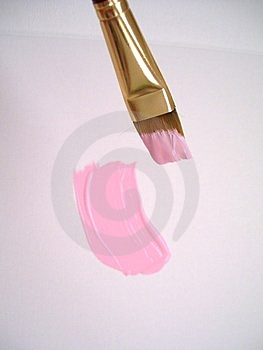 Щетка в розовых цветах Стоковые Фото - изображение: 2866973