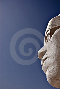 Stone Head Royalty Free Stock Photography - Image: 2869247