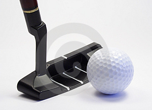 Stick and ball for a golf Royalty Free Stock Photos