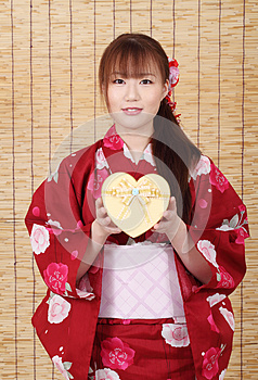 Young Asian Woman In Kimono Royalty Free Stock Image - Image: 28705886
