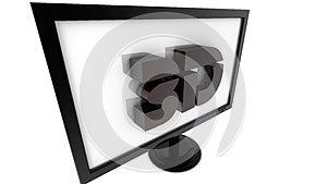 Televisão 3d Imagem de Stock Royalty Free - Imagem: 28716376