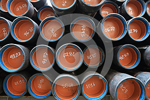 Stack Of Oil Well Casing 9 5/8 BTC Stock Photo - Image: 28735130