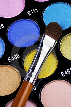 Make-up Palette Royalty Free Stock Photography