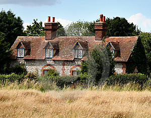 Brick And Flint House Royalty Free Stock Image - Image: 2885206