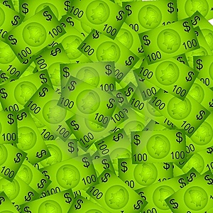 100 Dolarowych Rachunków Tło Obrazy Stock - Obraz: 2887124