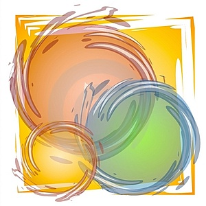 Paint Brush Circles Tile Royalty Free Stock Images - Image: 2887499