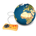 Isolated Earth with gamepad Royalty Free Stock Photography