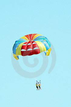 People Paragliding Stock Image - Image: 2891221